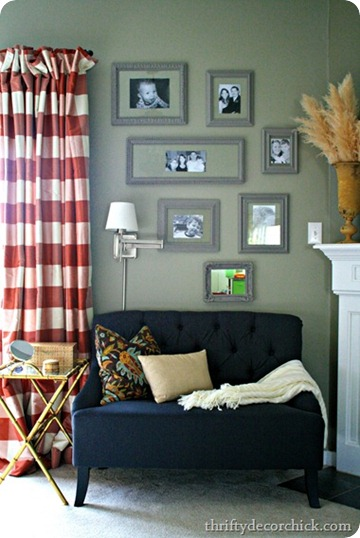 gray green walls
