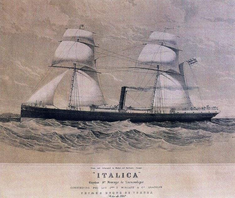 El primer ITALICA. 1860. Del libro La Naviera Ybarra.JPG
