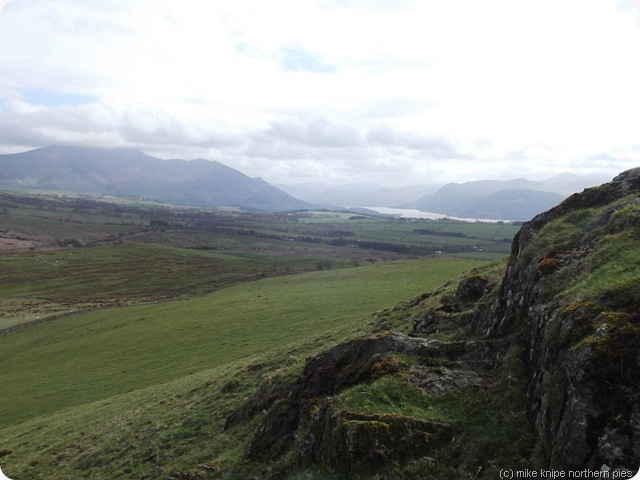 view east from caermote hill