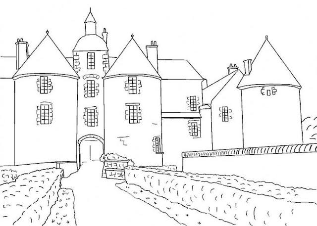 Ciudad Medieval Dibujos Para Colorear