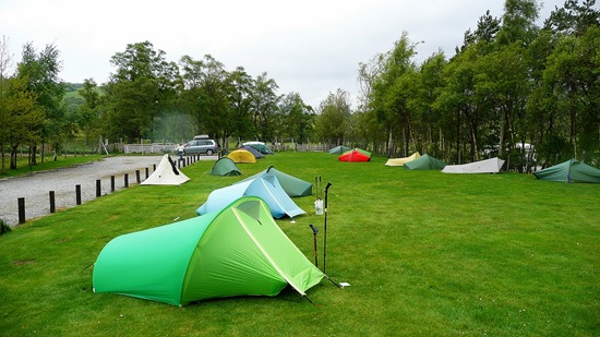 Andy Walker's picture of our tents at Braemar