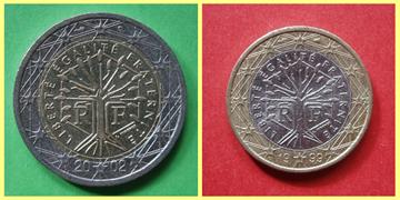 2 y 1 Euro Francia
