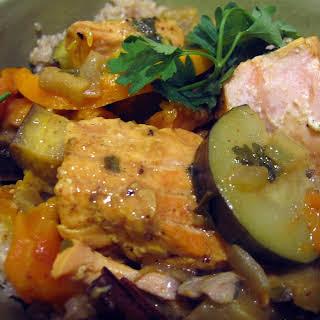 Orange, Olive and Salmon Tagine.
