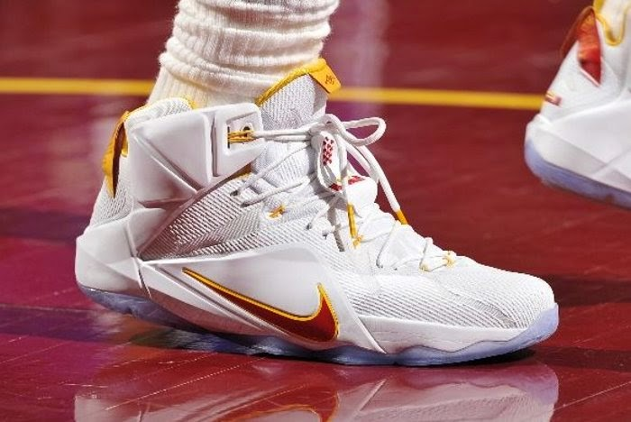 6bbb32aa310 ... where to buy closer look at lbj8217s latest cleveland cavaliers lebron  12 home pe c7962 7e350