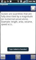 Screenshot of Physics Handbook