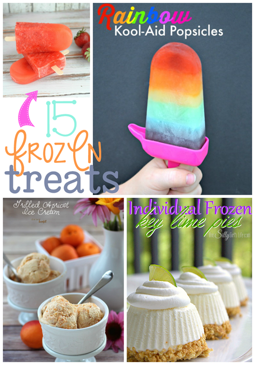 15 Frozen Treats at GingerSnapCrafts.com #linkparty #features