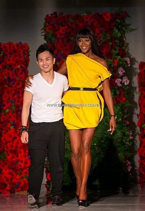 NAOMI CAMPBELL DIGITAL FASHION WEEK SINGAPORE 2013 2014 SPRING SUMMER Zen Chi SHOWS THE FACE winner Devyn Abdullah Jessica Amornkuldilok ANTM Winner Asia Next Top Model Singapore designer British fashion exchange Zenith Watch
