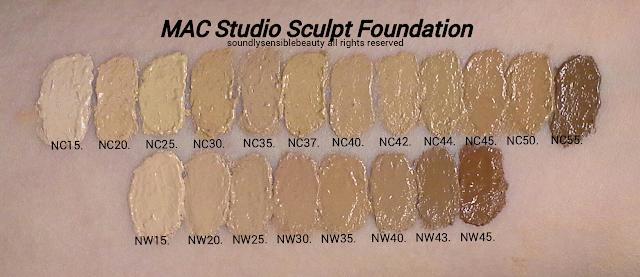 mac studio fix nc20 swatch