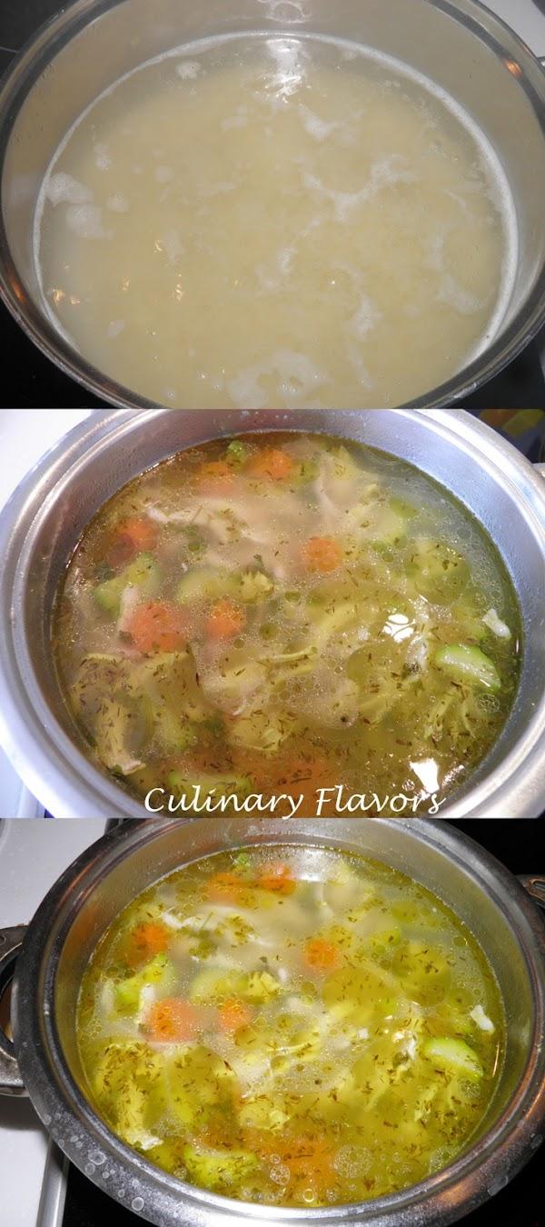Chicken soup preparation