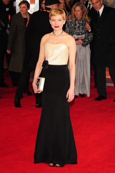 Michelle Williams attends the Orange British Academy Film Awards