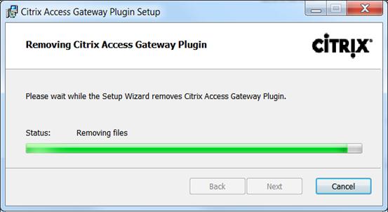 Removing the Citrix Access Gateway client  | vCloudInfo
