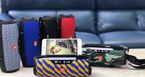 Loa Bluetooth CHARCE E14+, CÓ GIÁ ĐỂ ĐIỆN THOẠI - Âm Thanh Cực Hay