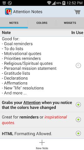 【免費生產應用App】Attention Notes-APP點子