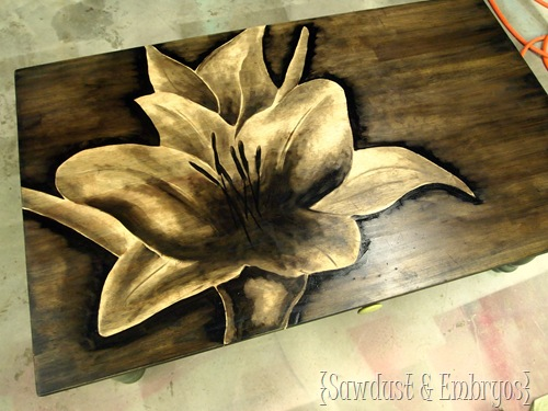 Shading with Wood Stain {by Sawdust and Embryos}