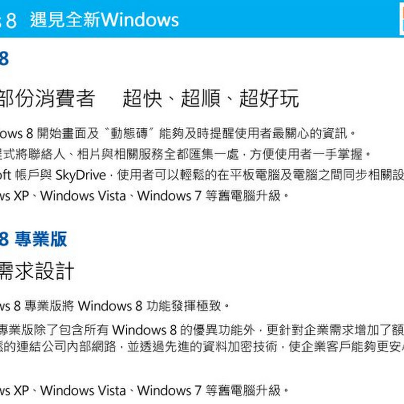 Windows 8 下載download
