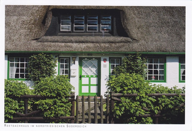 Thatched house in Süderdeich, North Frisia