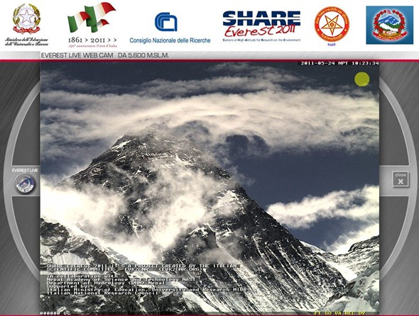 webcam on everest