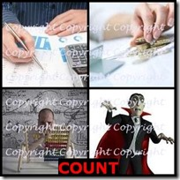 COUNT- 4 Pics 1 Word Answers 3 Letters