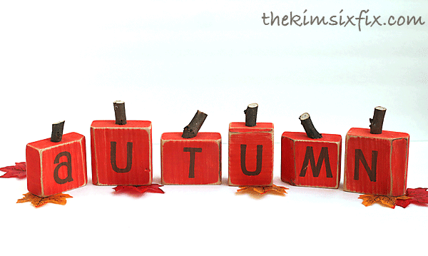 Pumpkin wood blocks