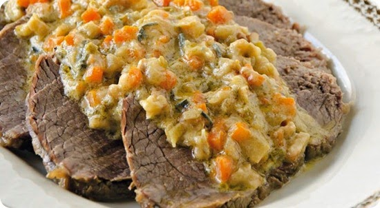 Carré di vitello al tartufo con salsa al gorgonzola