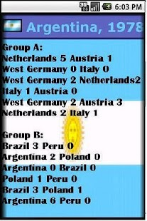 World Cup Soccer Almanac - screenshot thumbnail