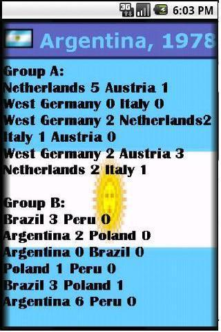 World Cup Soccer Almanac - screenshot