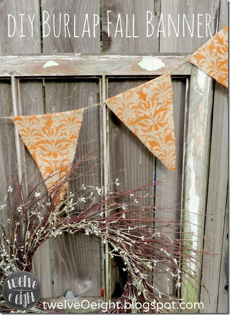 diy burlap fall banner