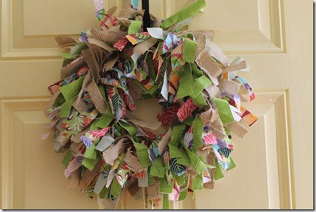 feature spring rag wreath