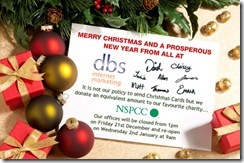 DBS Christmas Card 2012