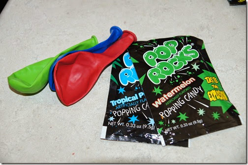 Pop Rock candy Scienc Experiment for Kids