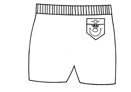 Colorear Dibujo Pantalón En Línea: Dibujos De Shorts Para Colorear