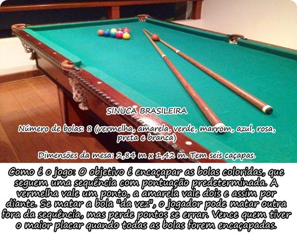 CONHECIMENTO INÚTIL  DIFERENÇA ENTRE BILHAR E SINUCA - MESA DE SINUCA 216de59e8673e