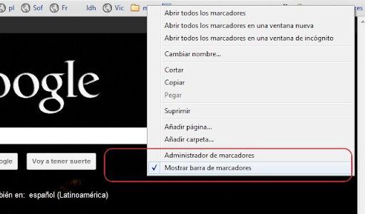 Marcadores en Chrome