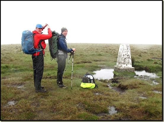 The trig point on Westend Moor
