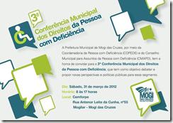 Terceira Conferência dos Direitos da PCD em Mogi das Cruzes