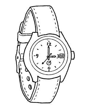 Dibujo Reloj De Pulsera Para Colorear