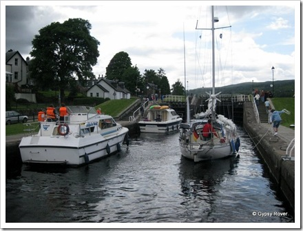 These three working their way up the staircase locks at Fort Augustus on the Caledonian canal.