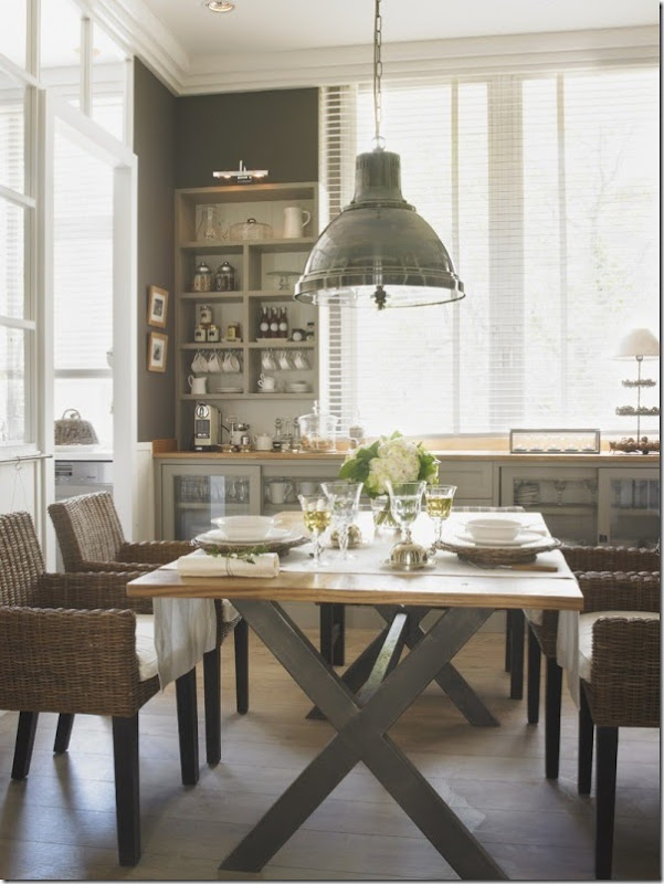 cucina - pranzo - lavanderia - vetrata - greige - country chic (6)