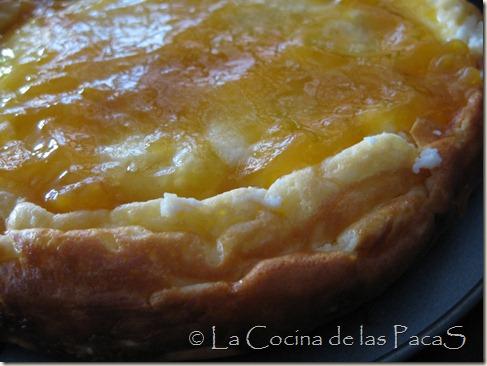 tarta de queso con confitura de melocotón (2)