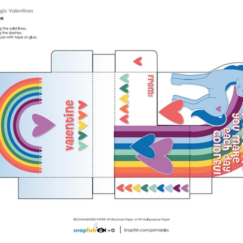 Gratis Caja unicornio para imprimir