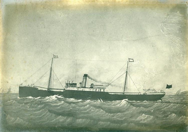 Grabado del vapor PEDRO MENENDEZ. Foto del increible libro VIDA MARITIMA DE M.G. MORAN.1.884 A 1.906..JPG