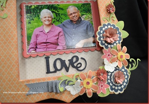 Bracket Frame_Claire_mom dad_love cluster of flowers