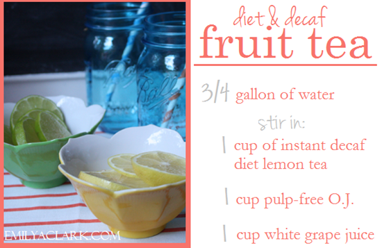 diet decaf fruit tea recipe