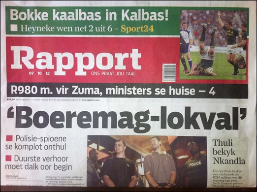 Censorbugbear reports...: Boeremag 'orchestrated by crime-intel'