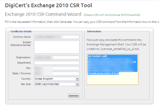CSCM IT Solutions: Exchange 2010 - How to renew a SSL
