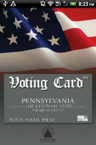 Voting Card Pennsylvania