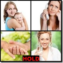 HOLD- 4 Pics 1 Word Answers 3 Letters