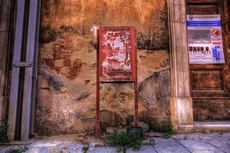 Post box l aquila Italy PPS
