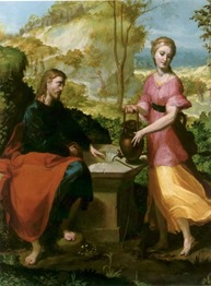 MichelangeloAnselmi-Christ_and_Woman_of_Samaria-LakeviewMuseum
