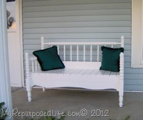White Headboard Bench
